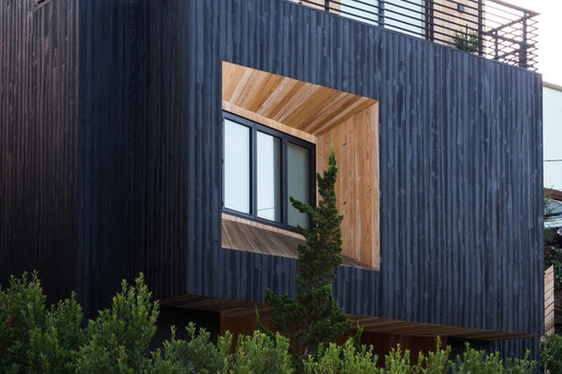 Trendy Hus & facade by reSAWN TIMBER co.