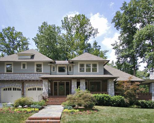 Craftsman window trim home design ideas pictures remodel for Craftsman home builders atlanta
