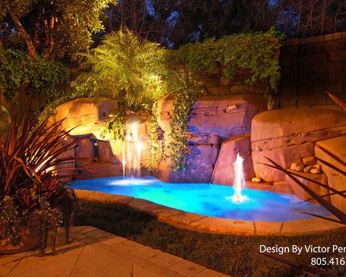 Artificial rock waterfalls home design ideas renovations for Artificial waterfalls design