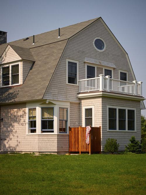 Exterior design ideas renovations photos with a mansard