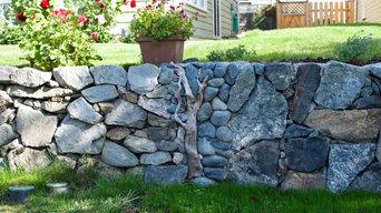 Artistic Stone Retaining Wall