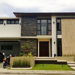 Inspiration for a zen exterior home remodel in Other