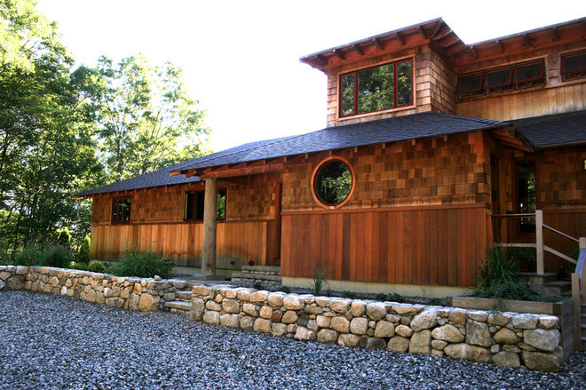 Asian Exterior by South County Post & Beam, Inc.