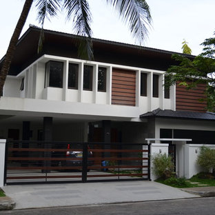 Example of a zen exterior home design in Other