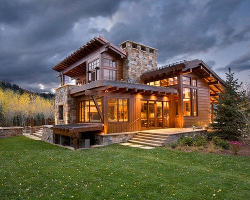 Case In Pietra Di Montagna : Foto e idee per facciate di case facciata di una casa con