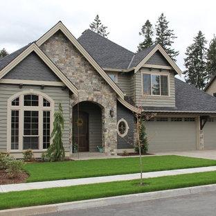Elegant stone exterior home photo in Portland
