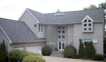 Asphalt roof with skylight installation