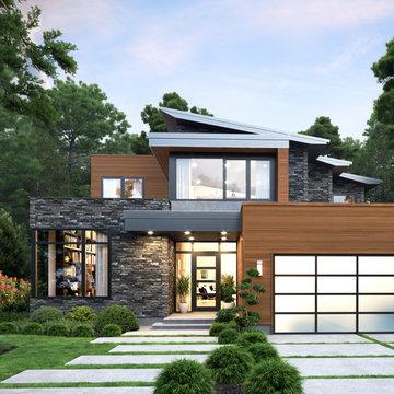 "Atlas Stone™ in Oxford, Cedar Renitions™ Designer 6"" in Timberline"