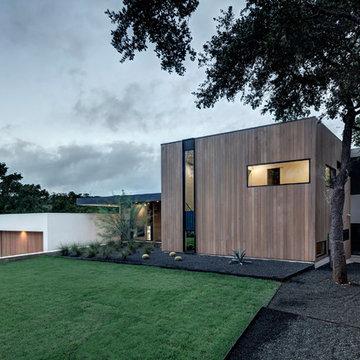Austin, Texas Modern Home-Alaska White Oak
