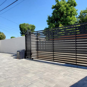 Automatic Driveway Sliding Gate with Pedestrian Gate - Liftmaster
