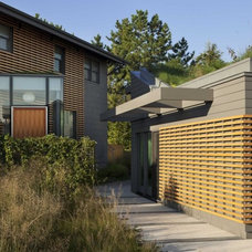 Contemporary Exterior by Brett Webber Architects, PC