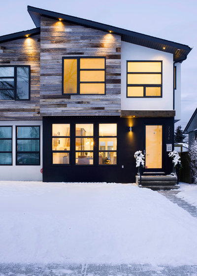 Trendy Hus & facade by Beyond Homes