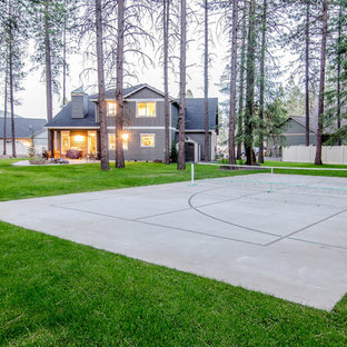 Backyard - Playground, pickle ball court