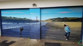 Baker Beach Garage Door Mural