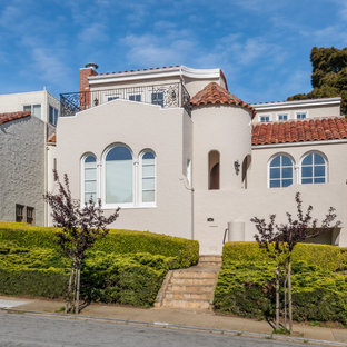 Tuscan beige two-story exterior home photo in San Francisco