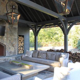 Baldcypress Timber Frame Pavilion with Stunning Copper Roof in Alabama
