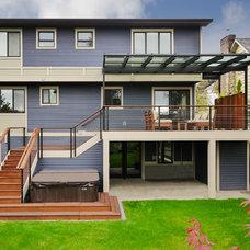 Contemporary Exterior by Sawhorse Design & Build