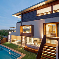Contemporary Exterior by Steele Associates