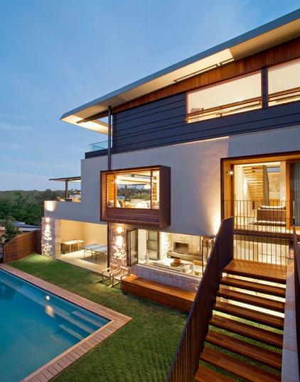 Contemporary Exterior by Steele Associates
