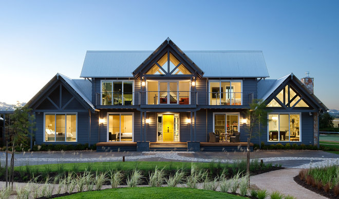 Traditional Exterior by Diane Bergeron Interiors
