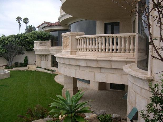 Mediterranean Exterior by Concrete Designs Inc