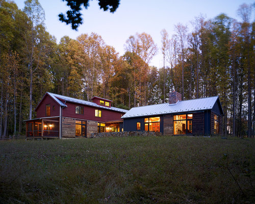 Pole barn house houzz for Pole building house