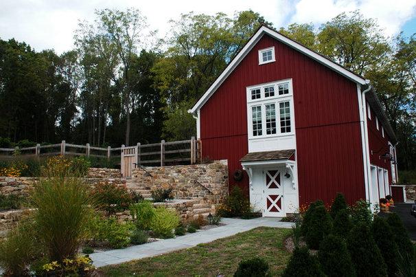 Farmhouse Exterior by Arturo Palombo Architecture