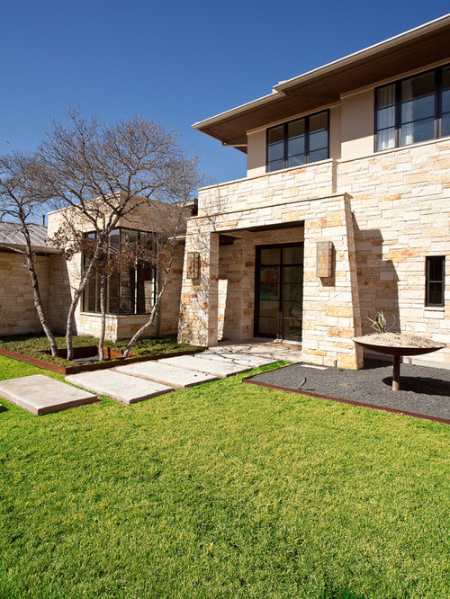 Contemporary stone facade for houses home design photos Houses with stone facade