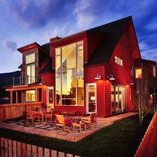 Modern Exterior by Robyn Scott Interiors, Ltd.
