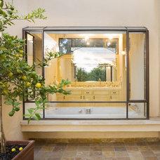 Mediterranean Exterior by Davidie Rozin Architects