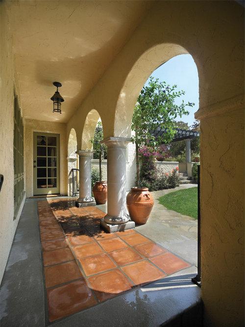 front door patio color | Terra Cotta Concrete Patio Paint Home Design Ideas ...