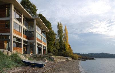 Houzz США: Современный дом с видом на залив в штате Вашингтон
