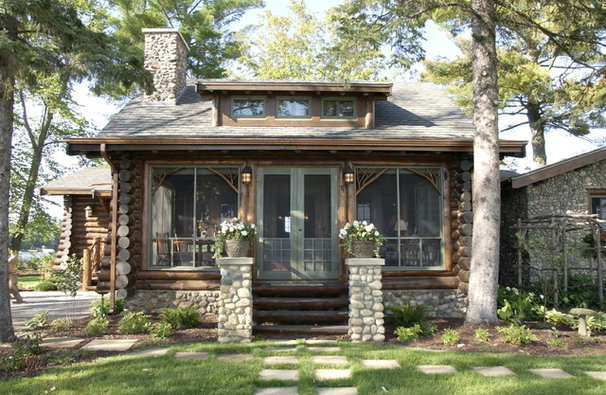 Rustic Exterior by Albertsson Hansen Architecture, Ltd