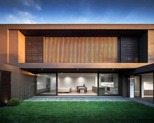 Foto e Idee per Facciate - facciata di una casa scandinava marrone