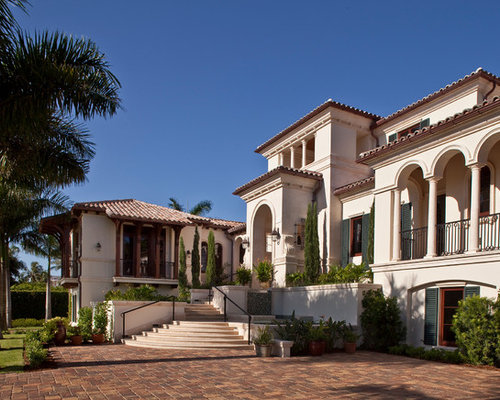tuscan exterior home photo in miami - Roman Design Architecture