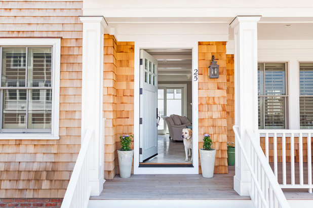 Transitional Exterior by Jenny Madden Design