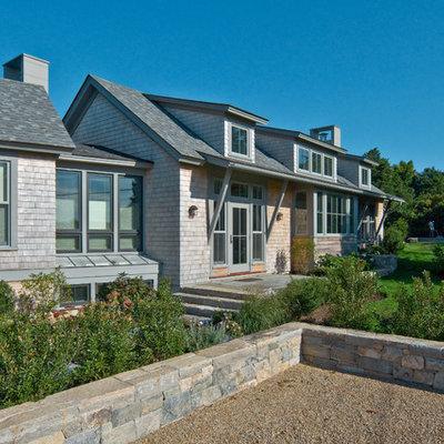 Coastal wood exterior home idea in Boston