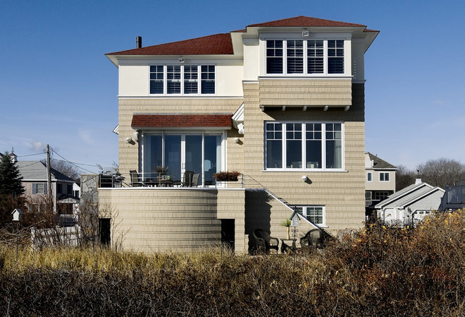 Beach Style Exterior by TMS Architects