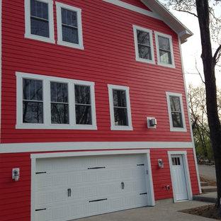 Imagen de fachada roja costera