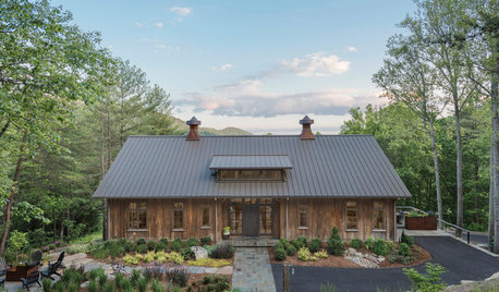 A Century-Old Barn Finds a New Home in the Mountains