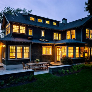 Inspiration for a craftsman exterior home remodel in Boston
