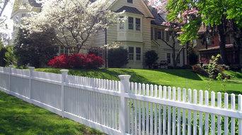 Beautiful White Wood Picket Fence