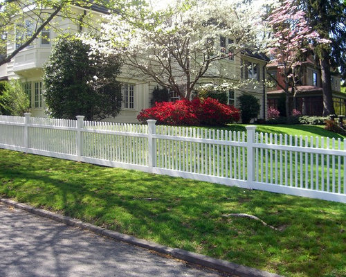 Beautiful White Wood Picket Fence