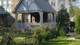 Before & after exterior paint&fence