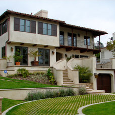 Mediterranean Exterior by Pritzkat & Johnson Architects
