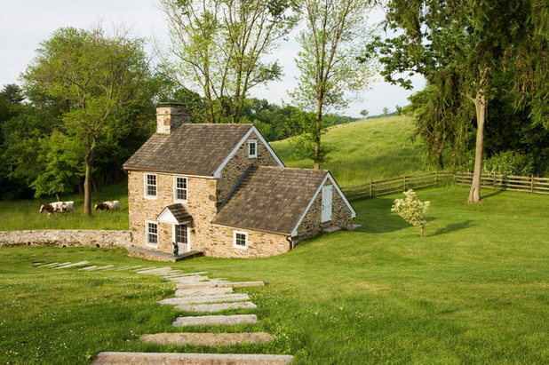 Farmhouse Exterior by Peter Zimmerman Architects