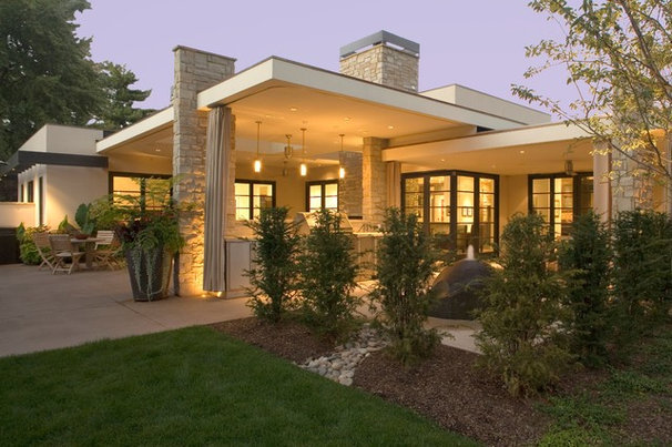 Midcentury Exterior by Nest Architectural Design, Inc.