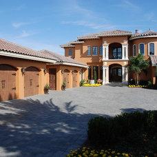Mediterranean Exterior by Hyatt Design, Inc.