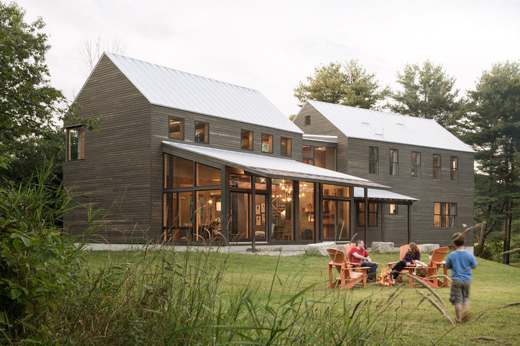 Transitional Exterior by Caleb Johnson Architects + Builders