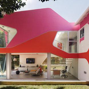 Inspiration för moderna rosa hus